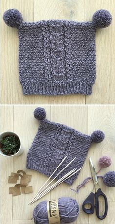 Mishka Hat - Free Knitting Pattern Free Knitting Pattern Knitting , lace processing is the most beautiful hobbies that women can not give up. Baby Knitting Patterns, Baby Hats Knitting, Knitting For Kids, Lace Knitting, Baby Patterns, Knitting Projects, Knitted Hats, Knit Crochet, Crochet Patterns