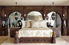 Moroccan Bedroom 23 Decorating Ideas Cher's Moroccan themed bedroom decorated by Martyn Lawrence Bullard.