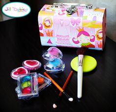 """Play Makeup Using Nail Polish -- No mess! Being the """"green"""" mom that I am, I'll be using natural polish for this."""