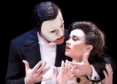 """Ramin Karimloo (Phantom) and Sierra Boggess (Christine) in """"Love Never Dies""""."""