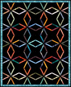 endless chain quilt layout and printable templates.  This block is also known as v-block and crazy star