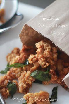 Kitchen Garden Recipe: Taiwanese fried chicken (Tawainese Salt and Pepper Chicken)