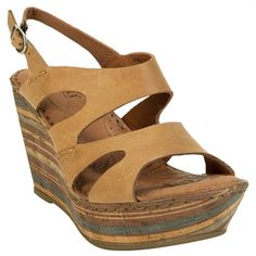 Born Bulena Sandal Wedge #VonMaur #Born #Natural