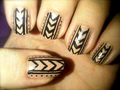 Off The Nail | Nail Artist from London | View nail art designs here: Nude Aztec