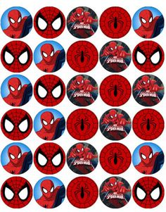 Resultado de imagen para free printable cupcake wrappers and toppers with spiderman Spiderman Theme Party, Superhero Birthday Party, Man Birthday, Cupcake Party, Cupcake Cakes, Cupcake Wrappers, Fête Spider Man, Spiderman Cupcake Toppers, Spiderman Images
