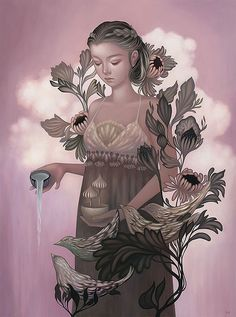 "Amy Sol's ""Garden Gamine"" at Thinkspace Gallery.Opening on Saturday, April 2nd, 2016 at Thinkspace Gallery in Culver City, California is the much anticipated solo show from artist Amy Sol, ""Garden..."