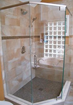 Semi  Frameless Shower Enclosure. Showermanu0027s Neo Angle Corner Shower  Enclosures Provide Space