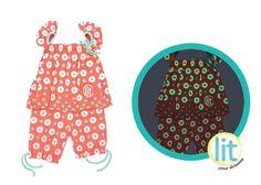 Flower Rain Coral  #pijamas #bebes #niños #mamelucos #lit #babies #kids #night #clothes #brillan #noche #pants #jersey #sleepwear #enviogratis