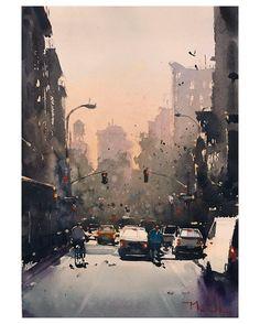 Daniel Marshall, Rivington Evening, 11x15