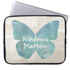 Kindness Matters Butterfly Laptop Sleeve