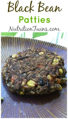 Black Bean Patties | Only 196 Calories | Simple, Healthy & Scrumptious! | Protein & Fiber Packed for satiety | Vegan | For Nutrition & Fitness Tips & RECIPES please SIGN UP for our FREE NEWSLETTER www.NutritionTwins.com