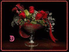 Wierszyki i gify na dobranoc: Gify na dobranoc kwiaty Photo Effects, Beautiful Roses, Happy Halloween, Red Roses, Bouquet, Animation, Vase, Christmas Ornaments, Wallpaper