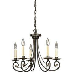 $173.88 Home Depot.    Progress Lighting - Bradford Collection Forged Bronze 5-light Chandelier - 785247113521 - Home Depot Canada
