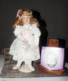 Vintage c.1994 Ashton Drake Porcelain Doll made exclusively
