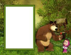 Masha and the Bear PNG Kids Photo Frame