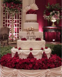 Spectacular wedding cake with elegant detail crafted by Timothy Cake in Tomang, Jakarta Barat, Indonesia....