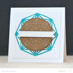 "Letterpress card ""Shine Bright Like a Diamond"" by @pixnglue"