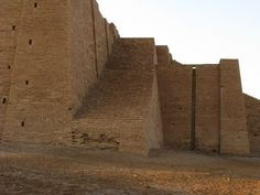Zigurat de Ur, Mesopotamia (Irak); detalle de la escalinata que lleva parte superior