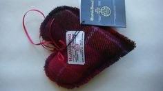 Harris tweed heart ornament Christmas decoration by Scotswhahae, $10.00