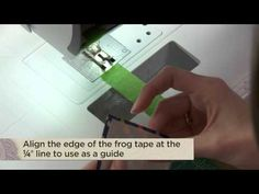 Great quilting tip for triangles- Discover the Frog Tape Trick for Making Half-Square Triangles with Camille Roskelley