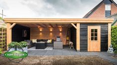 Most current Photo backyard sheds house Concepts Owning a wonderful yet long-la. Backyard Storage, Backyard Sheds, Backyard Patio Designs, Backyard Landscaping, Pergola With Roof, Pergola Patio, Covered Pergola, Bar Shed, Summer House Garden
