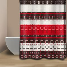 red and brown shower curtain. red and brown shower curtain  Google Search Bathroom decor Pinterest