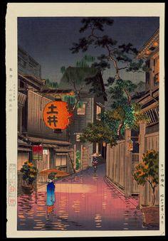 Tsuchiya Koitsu Title:Evening at Ushigome Date:1939