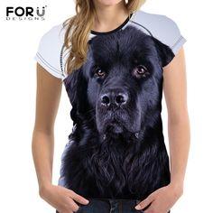 3D Newfoundlands 3d Dog, Tee Shirts, Tees, Summer Tshirts, Newfoundland, Black, Products, Women, Style