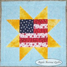 Apple Avenue Quilts: Free 2012 Block of the Month ... patriotic theme ... could be done in paper ...