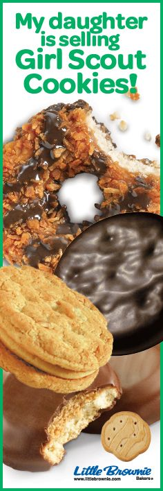 Girl Scout Cookies - Great bonding time with my daughter and valuable life lessons for her too. I love Cookie season.
