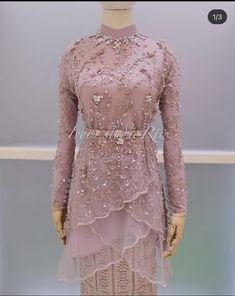 Dress Brukat, Hijab Dress Party, Kebaya Dress, Dress Pesta, Batik Dress, Dress Outfits, Batik Fashion, Abaya Fashion, Muslim Fashion