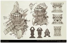 ArtStation - League of Legends, Summoners Rift update Architecture concept art, Trent Kaniuga - Aquatic Moon