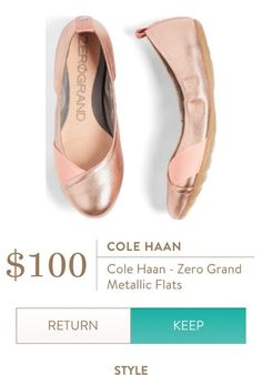 Cole Haan - Zero Grand Metallic Flats from Stitch Fix. Would like in a different color though
