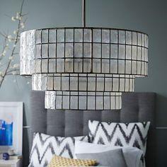 Capiz Tiered Chandelier #westelm http://www.westelm.com/products/capiz-tiered-chandelier-w1144/?pkey=cchandeliers&cm_src=chandeliers||NoFacet-_-NoFacet-_--_-