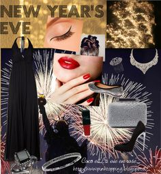 """New year's eve - Black sofistication"" by cocolavieenrose on Polyvore"