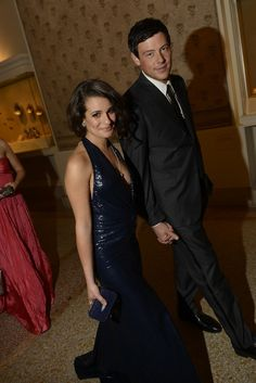 Lea Michele and Cory Monteith at the Met Ball 2012