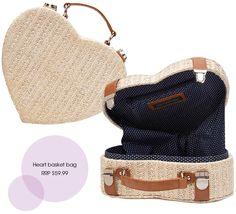 Forever New heart basket bag
