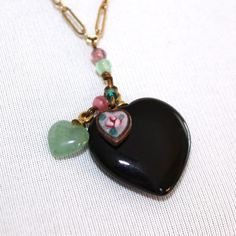 Vintage Lucy Isaacs Hearts Necklace by GeneralWhimsy