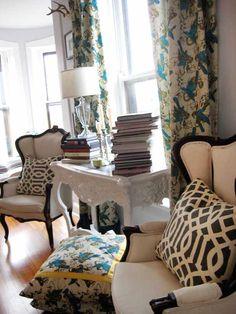 Original Geometric Curtains Summer Thornton Living Room Ideas