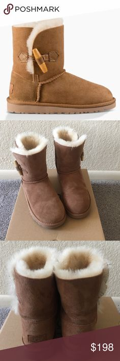 UGG Ebony BRAND NEW pair of Ugg boots in chestnut. Style: Ebony. Kid's size 5 which is equivalent to a women's size 7. UGG Shoes Winter & Rain Boots