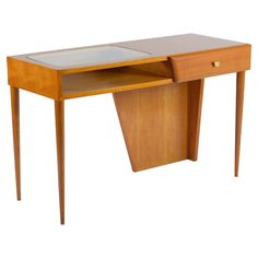 Italian Cherrywood Writing Desk Console   From a unique collection of antique and modern desks and writing tables at…