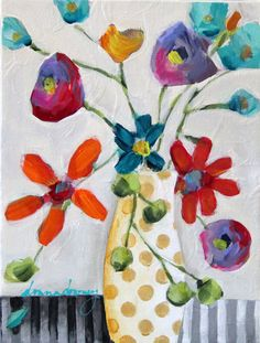 "ORIGINAL | ""Floriated #5"" (#5 of 8 in series) - Donna Downey Studios Inc - 2"