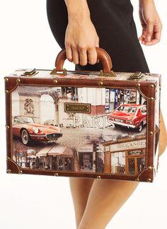 vintage paris briefcase $55.60 in BROWNMULTI - Bags | GoJane.com