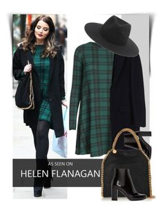 """""""How to style: Plaid Dress"""" by luvsassyselfie ❤ liked on Polyvore featuring MSGM, Yves Saint Laurent, STELLA McCARTNEY, rag & bone, GetTheLook, black and GREEN"""