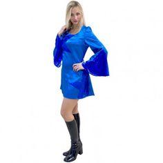 #robe #bleu #disco #robedisco #sexy #femme #soiréedisco