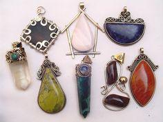 Large Handmade Semi-Precious Stone Pendants from Peruhttp://www.wholesaleperuvianjewelry.com