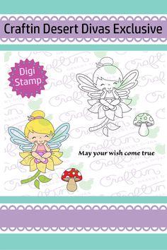 Fairy Wishes Digital Stamp - Craftin Desert Divas