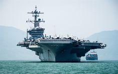 تحميل خلفيات يو اس اس كارل فينسون, CVN-70, حاملة الطائرات الأمريكية, منظر أمامي, خليج, البحر, البحرية الأمريكية, سفينة حربية أمريكية, الولايات المتحدة الأمريكية