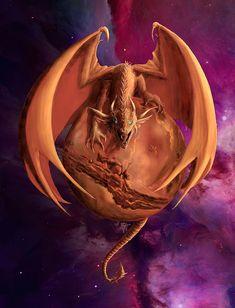 Mars Dragon Digital Art by Rob Carlos