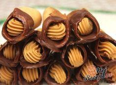 Medové trubičky s karamelovým krémem